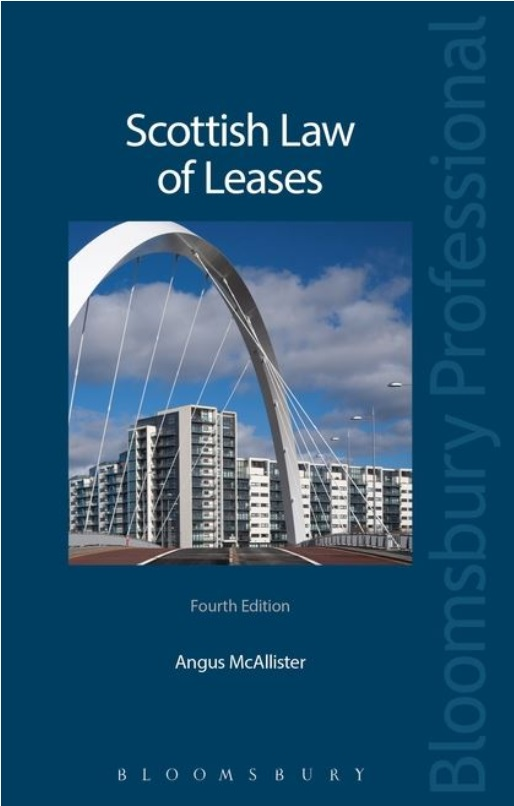 An image of a copy of the book Scottish Law of Leases by Angus McAllister